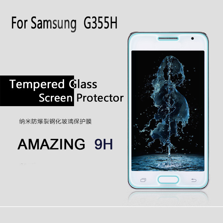 Ultra-thin Premium Anti-shatter Tempered Glass G355h Screen Protector Films For Samsung Galaxy core 2 G355h G3559 free shipping(China (Mainland))