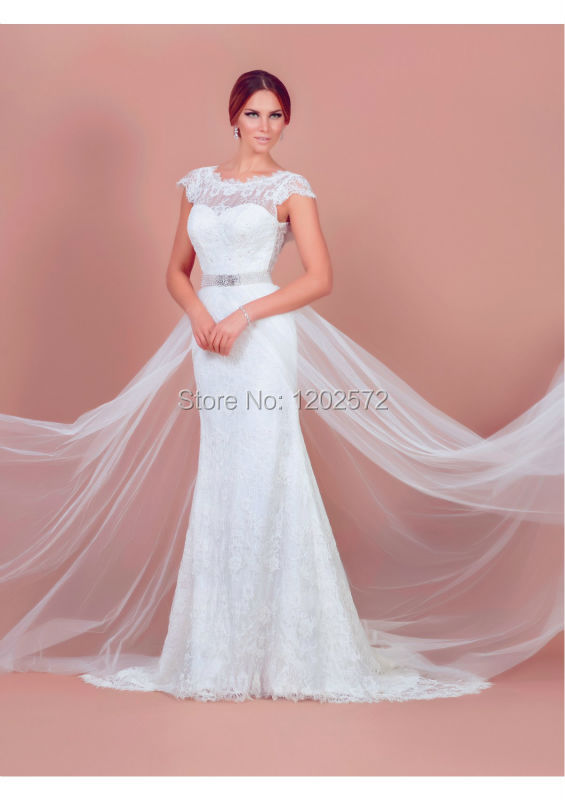 Buy wedding dress with belt tiered cap for Tiered wedding dress with sleeves