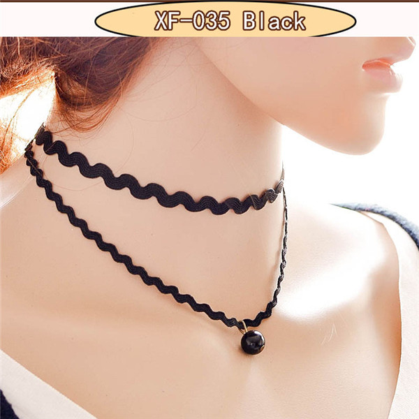 New Gothic jewelry black rose necklace & pendant false collar handmade jewelry women accessories choker necklaces punk colares(China (Mainland))
