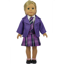 American Girl Doll Clothes font b Tartan b font Clothing Dolls 18 Inch Fashion Coat Doll