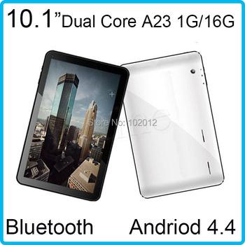 1.5 ГГц allwinner A23 двухъядерный бесплатная доставка wifi 1 ГБ / 16 ГБ Bluetooth двойная камера двухъядерный андроид 4.4 планшет шт. 10 дюймов
