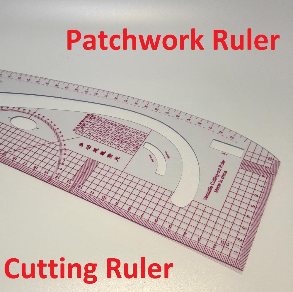 Multifunctional patchwork ruler plastic cutting ruler clothing sample grading rulers 3245(China (Mainland))