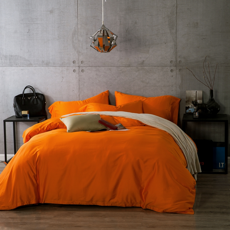 Popular orange bed comforters buy cheap orange bed for Lit queen size taille