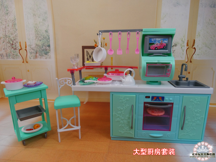 Diy barbie kitchen the image kid has it for House kitchen set