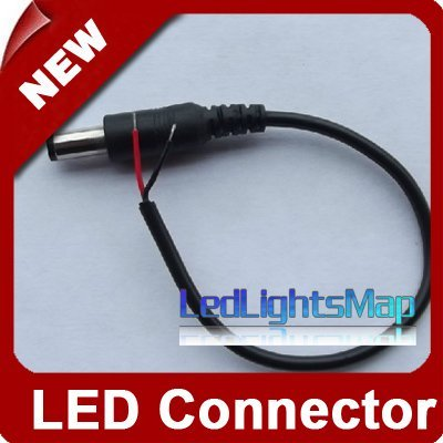 5.5*2.1  Male DC Power Jack Plug Adapter Connector  With Wire For CCTV Cameras And Led Strip