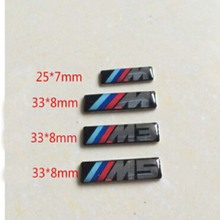 50 pieces/lot M 3 5 logo Emblem Badge for steering wheel