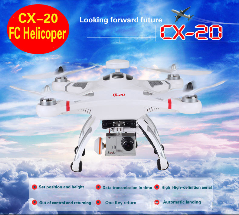 Cheerson CX-20 CX20 CX 20 2.4G RC Quadcopter 4-Axis RC Helicopter with GPS Drone Auto-Pathfinder Aircraft FPV RTF Without Camera(China (Mainland))