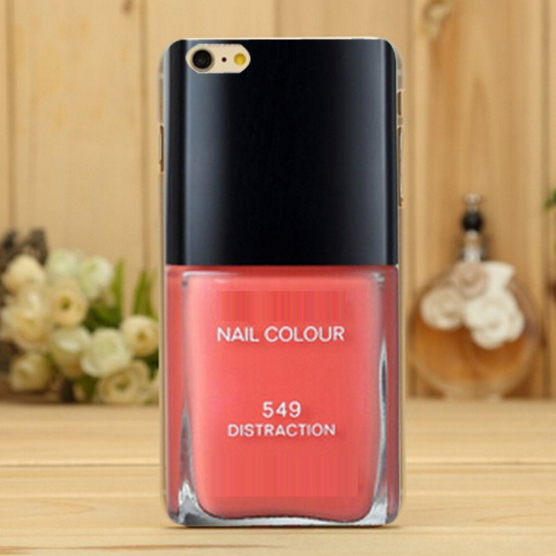 New Slim Fashion Luxury Brand Logo Nail Polish Design Mobile Cell Phone Cases Hard Case cover For iPhone 6s 5 5S 5C 4 4S 6 Plus