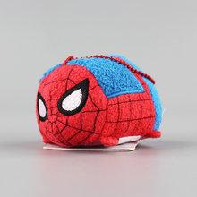 Tsum Tsum 9 cm Dos Desenhos Animados Acessórios Do Telefone Tela Limpe bonecas Pingente Toy story Buzz Lightyear Mickey Spiderman Superhero de Dentro Para Fora(China)