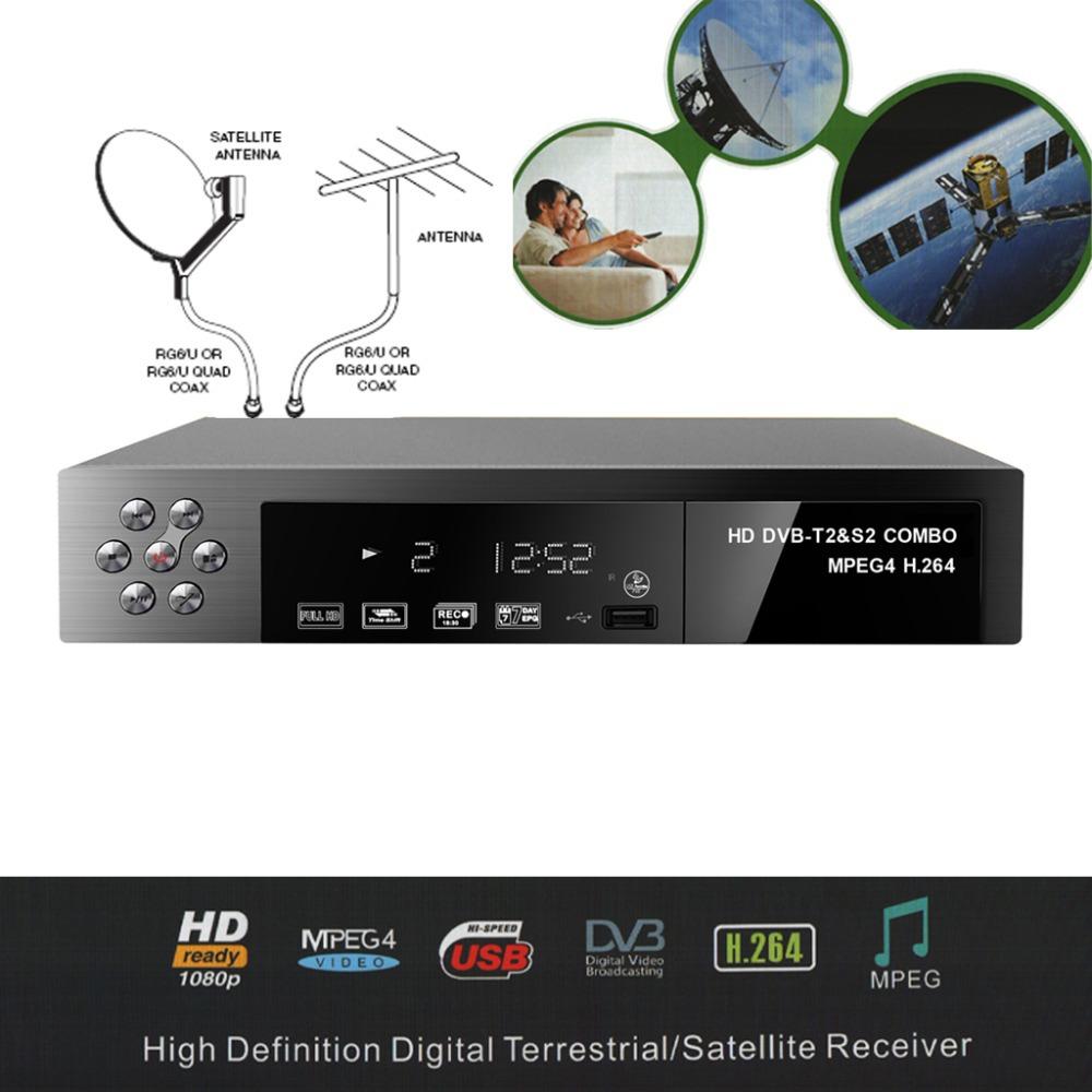 FTA Full HD Digital DVB-S2 DVB-S S2 T2 DVB-T2 DVB-T COMBO Terrestrial Satellite Receiver TV BOX USALS Biss DiSEqC MOTOR(China (Mainland))