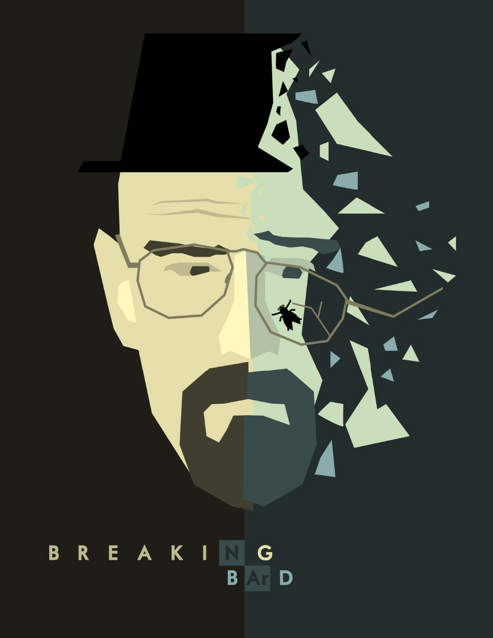 Breaking Bad Cubism Walter Portrait TV Series Artistic Vintage Retro Decorative Poster DIY Wall Home Bar Posters Home Decor Gift(China (Mainland))
