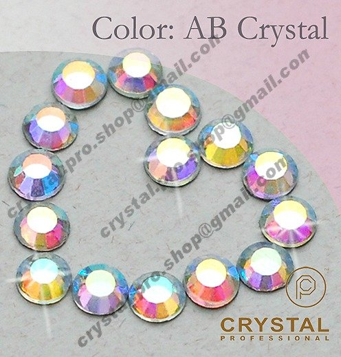 144 pcs ss30 AB Crystal Clear 6mm bulk 30ss glass hot fix iron on design diy Loose bead stone 1 gross FLATBACK hotfix rhinestone(Hong Kong)