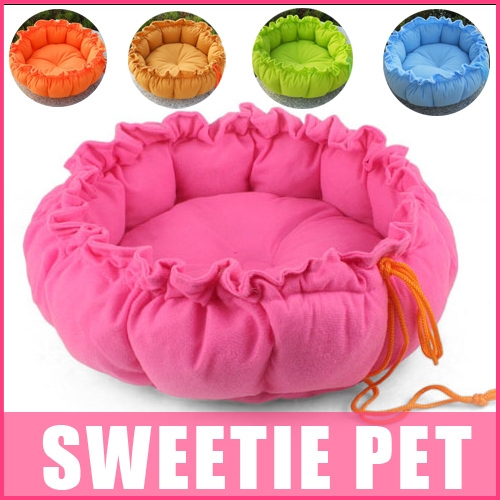 Free Shipping 5 colors Drawstring pet nest cat dog sofa pumpkin style dog kennel S,L(China (Mainland))