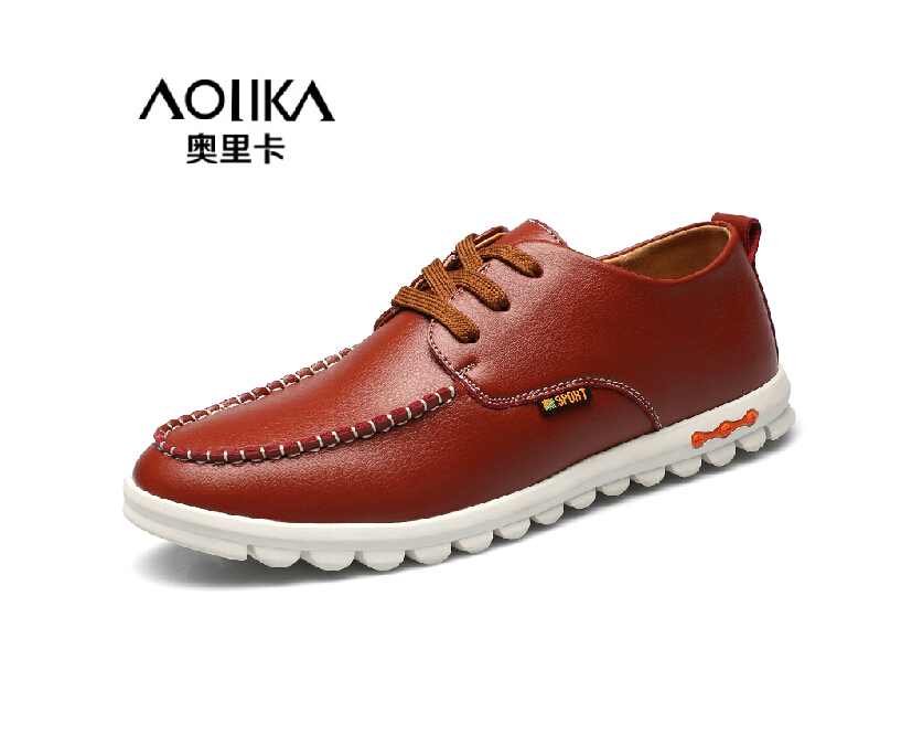 Big Size 6~12 New Genuine Leather Men Flats, High Quality Casual Leather Shoes For Men, Driving Moccasins Leather Men Boat Shoes(China (Mainland))