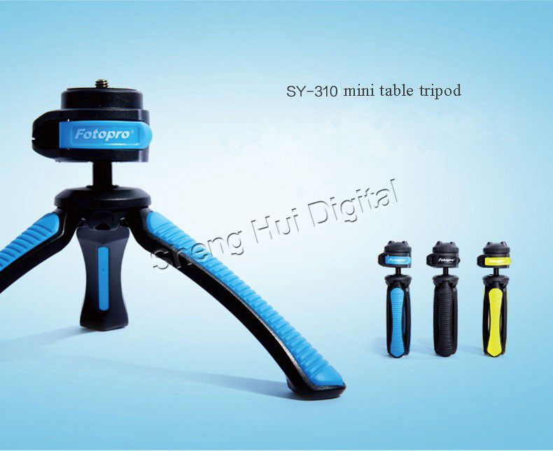 2014 New POTOPRO Mini table tripod with cellphone clip fit to camcorder&digital camera,cell phone,Multi-function portable tripod(China (Mainland))