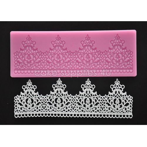 NEW Sugar art silicone lace mat Lace border silicone mold,cake border,cake decorating supplies,fondant cake decor free shipping(China (Mainland))
