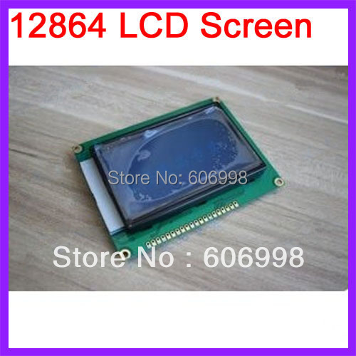 2pcs/lot 12864 128x64 Blue Color Backlight White Character LCD Display Screen(China (Mainland))