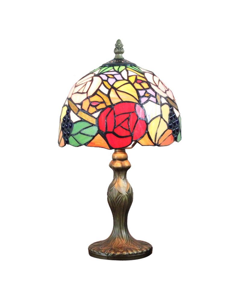 DHL Free Ship Table Lamps Floral Tiffany Night Beside Desk Light Fixture Mediterranean Sea Style Bedroom E14 110V-240V(China (Mainland))