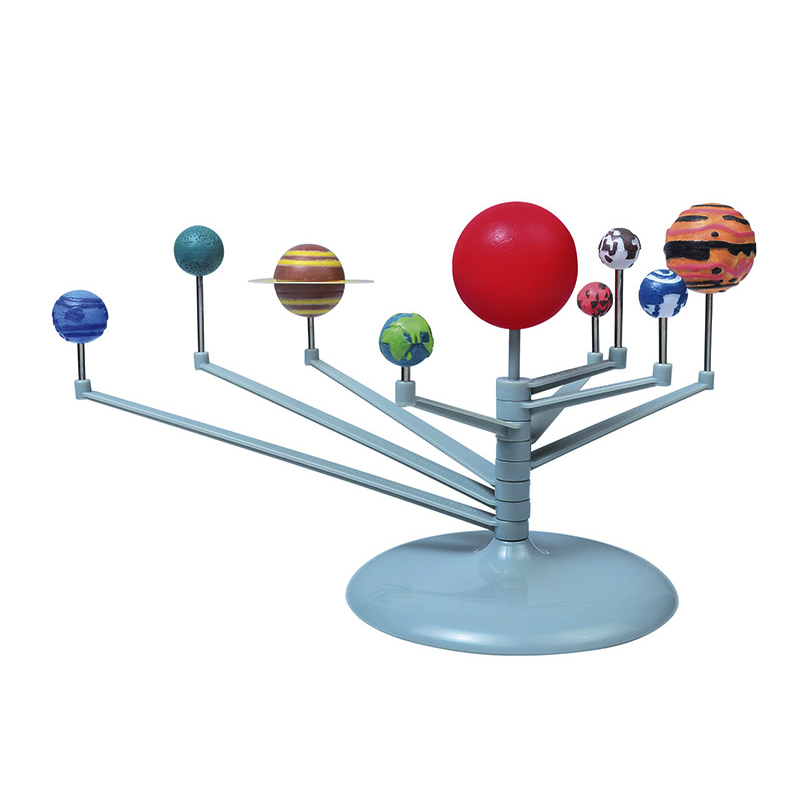 Nine Planet Solar System DIY Painting Toys Children Planetarium Painting Science Fair Project Teaching Toys Educational toys(China (Mainland))
