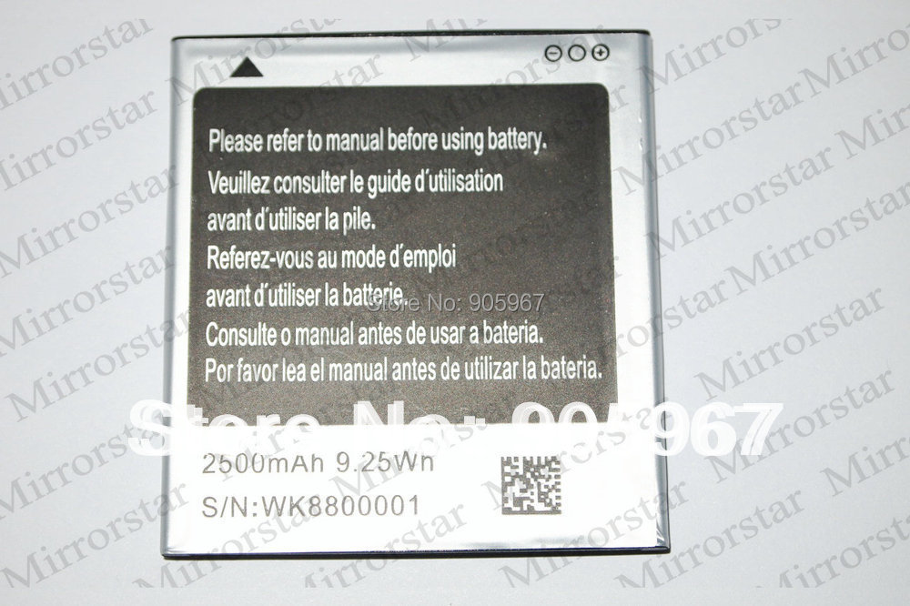 "New original WK8800001 Battery + cable + 2 * Screen Protector Film for star 5.08"" MTK6575 MTK6577 N8000 N8000+ A9220(China (Mainland))"