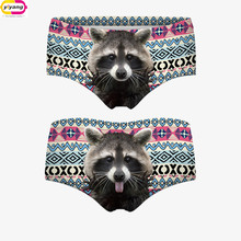 Free Shipping Top Quality New Brand 3D Cats Panties Printing Briefs Fashion Women Underwear Seamless Control Panty Sexy (China (Mainland))