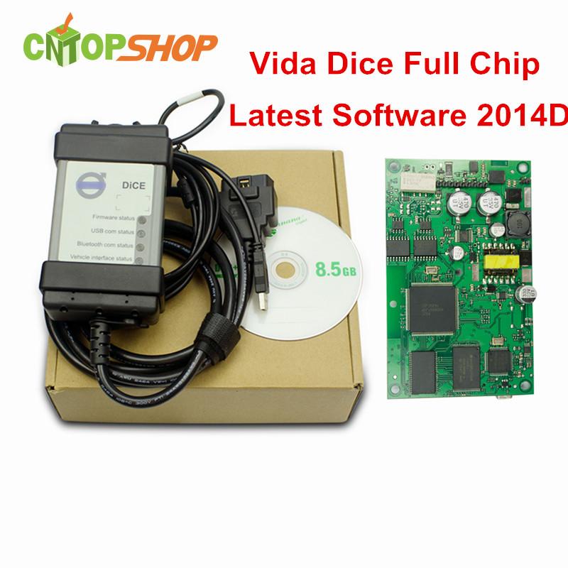 Full Chip PCB Vida Dice 2014D OBD2 Diagnostic Tool Vida Dice Pro OBDII Professional Tool Support J2534 Protocols Multi-Language(China (Mainland))