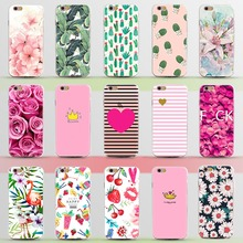 New Arrival Ultrathin Soft TPU Case for iphone 5 5s SE 6 6s 6plus Flowers Daisy Plants Fruit Cactus pattern Phone Case Cover(China (Mainland))