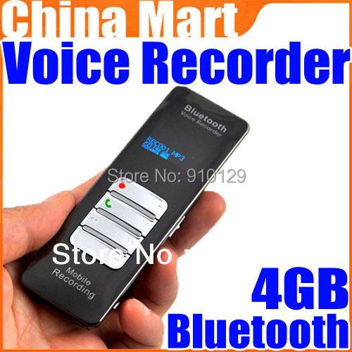 4GB Wireless Bluetooth Mobile Voice Audio Digital Recorder ...