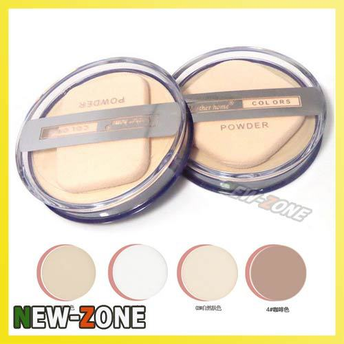 MH Clear Smoonth Makeup Face Pressed Powder Foundation Moist Dry Wet 2 Way Use Compact powder foundation Free Shipping(China (Mainland))