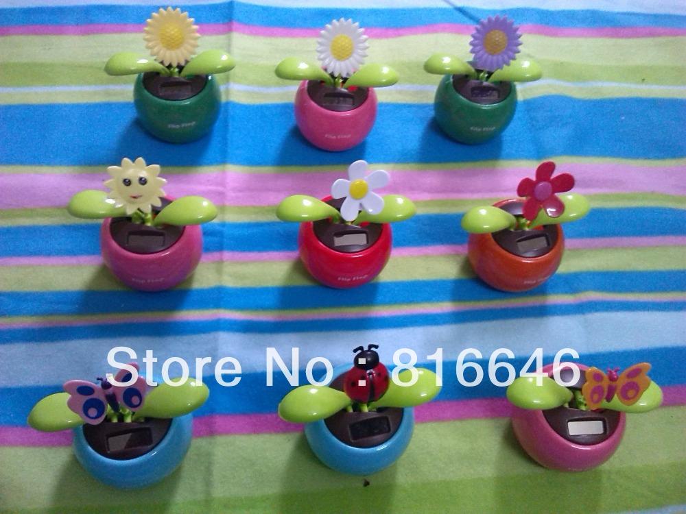 Wholesales Flip Flap Solar Powered Dancing Flowers(China (Mainland))