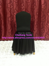 500pcs Quality #25 Black  Large Skirting Banquet Chair Cover,Elegance Lycra Chair Cover For Wedding Evens&Hotel Decoration(China (Mainland))