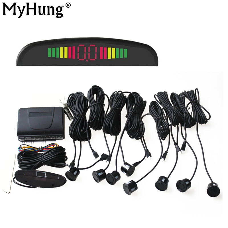 Car Accessories Parking Sensor 8 Sensors+ Buzzer Backup Radar Detector System Reverse Sound Alert 1Set - Shenzhen MyHung Company Store store