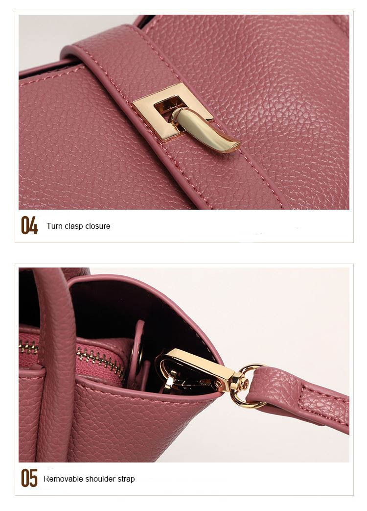 Italian ladies luxury leather top-handle bags 2016 office hand bags designer small handbag set high quality tote Shoulder bags