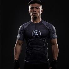 3D Printed T-shirts Men Compression Shirt Raglan Short Sleeve Flash Cosplay Costume Quick Dry Crossfit Clothing Tops Male - GYMSPECLALIST Store store