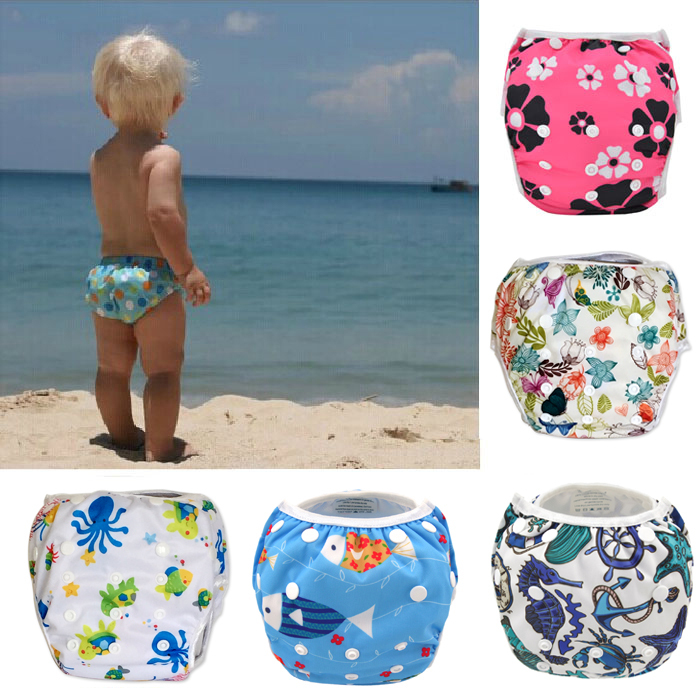 swimwear Swim Diaper wear Leakproof Reusable Adjustable for baby infant boy girl toddler 3 years 1