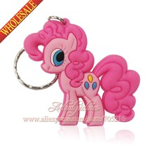1PCS My little ponies keychains Key chain Keyring Key Rings Hanging accessories Action figures toys Party Gifts(China (Mainland))