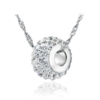 AAA 100% Silver 925 Pendant Necklace Sterling Sliver Jewelry Romantic Super Flash Ball Necklaces & Pendants Christmas Gift