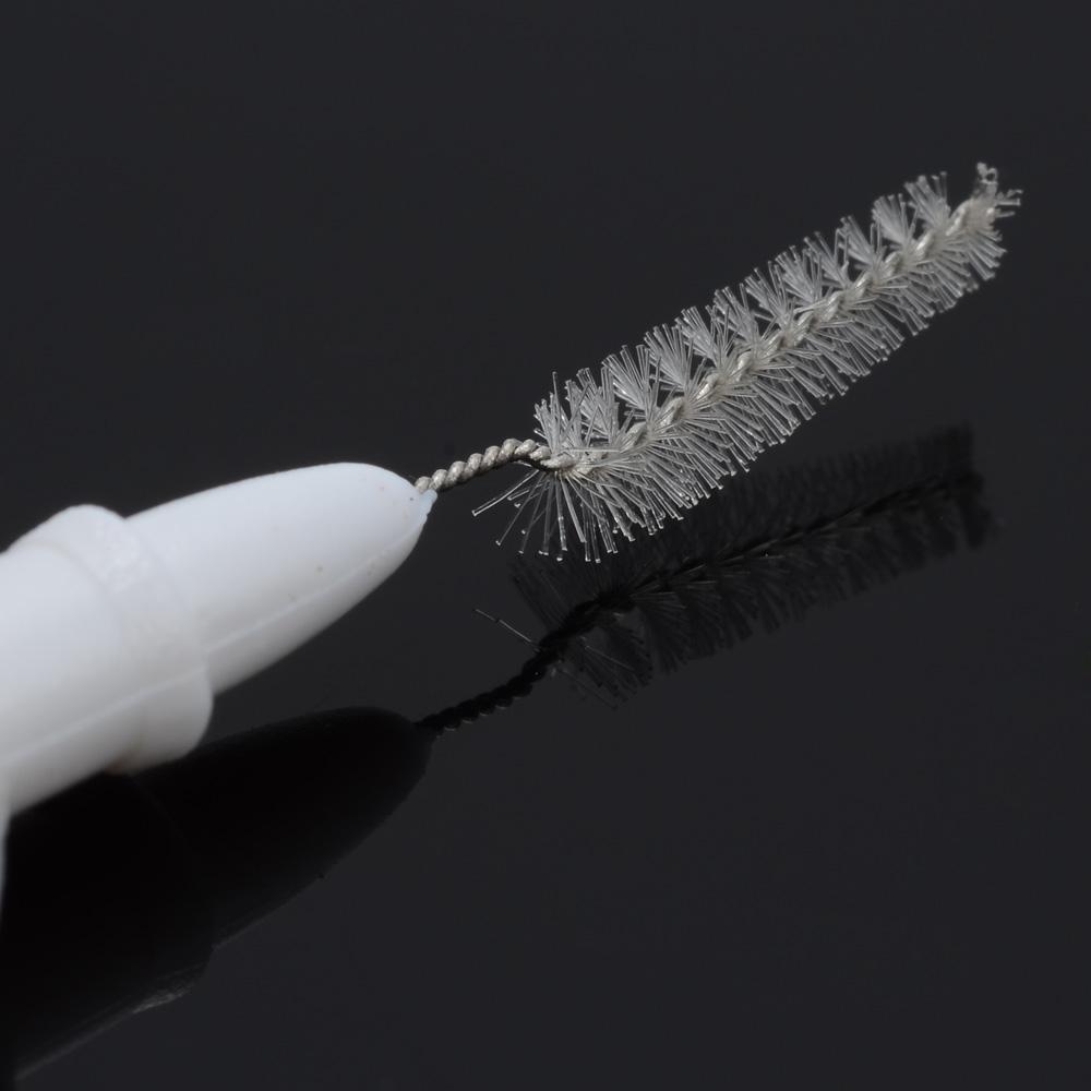 5 шт./лот межзубные ершики метла глава зубная нить 0.7 мм длина чистка зубов гигиена полости рта инструмент