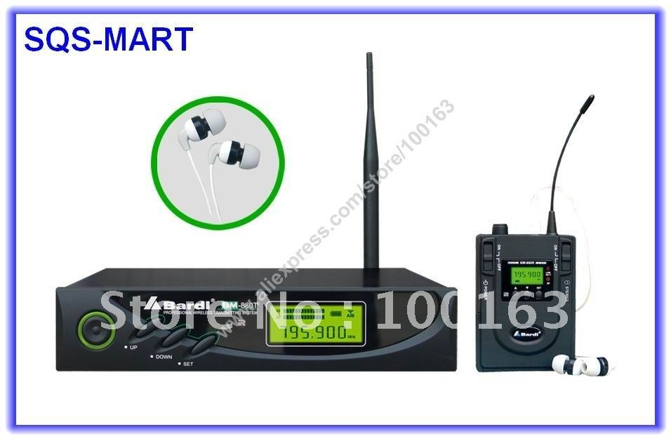 Bardl Bm 880 Uhf Wireless In Ear Monitor System Stereo