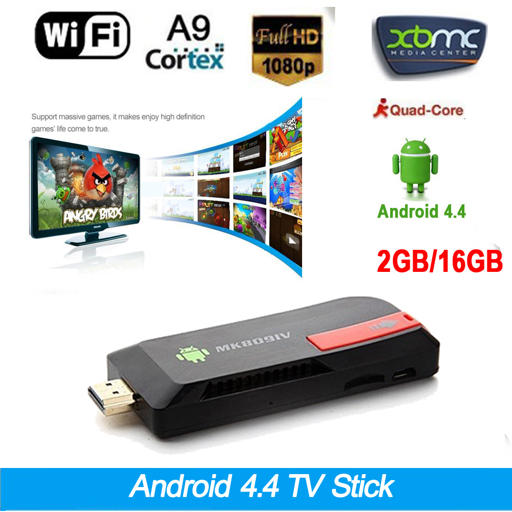 TV Stick XBMC 4.4 TV Dongle 2G /16G DLNA WiFi Bluetooth 4.0 Dongle RK3188T MK809IV /android pvt 898 5g 2 4g car wifi display dongle receiver airplay mirroring miracast dlna airsharing full hd 1080p hdmi tv sticks 3251