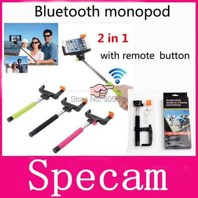 Z07-5 extendable Wireless Bluetooth selfie Monopod For iphone 5 6 IOS samsung Android Remote Control shutter Selfie Stick Tripod(China (Mainland))