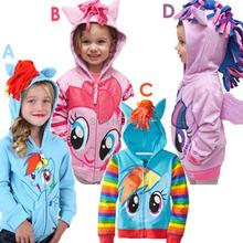 Retail hot sale My little pony Clothes Girl's cartoon coat!Children Hoodies,Girls jacket Children's Coat,girls cartoon outerwear(China (Mainland))