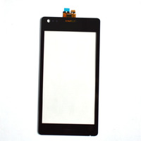 Black Touch Screen with Digitizer  for Sony Xperia M C1904 C1905 C2004 C2005 ,free shipping!!