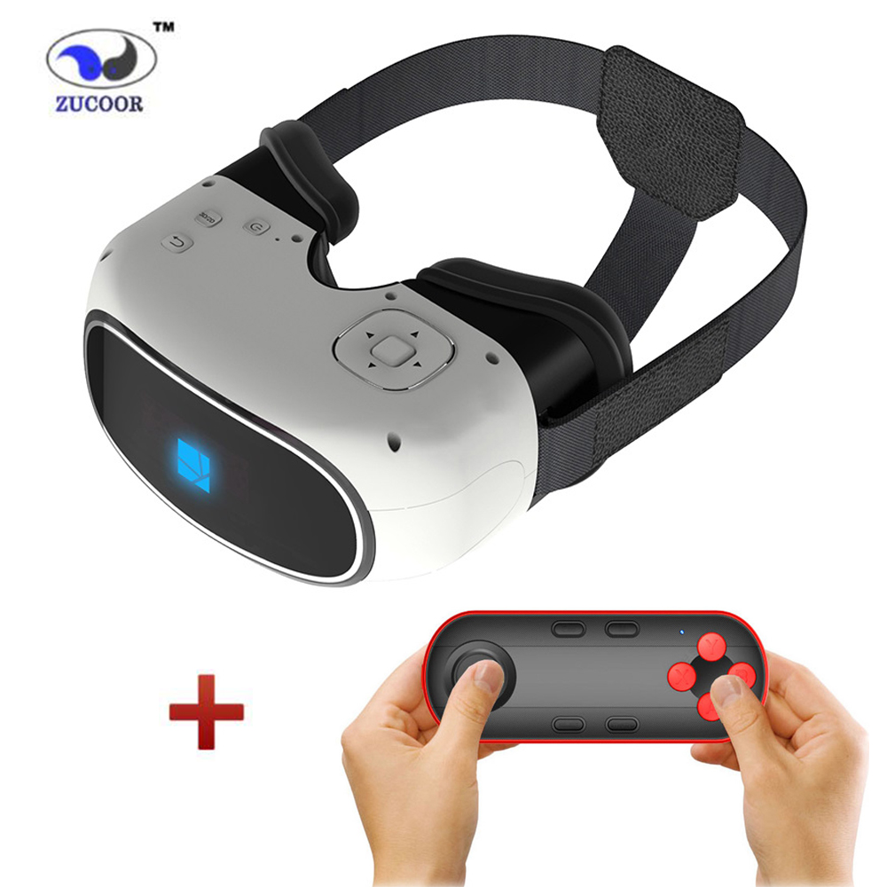 2016 Google cardboard 3D Movie Games Glasses VR BOX Android 5.1 Virtual Reality Quad-Core Smart WIFI Bluetooth Remote Controller(China (Mainland))