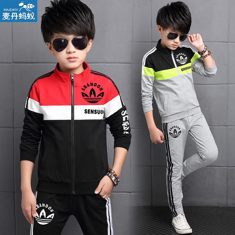 Kids Boys Sports Wear 2pcs One Set Children Casual Clothes Long Sleeved Sport Two Piece Sweater and Pant Promotion V-0149(China (Mainland))
