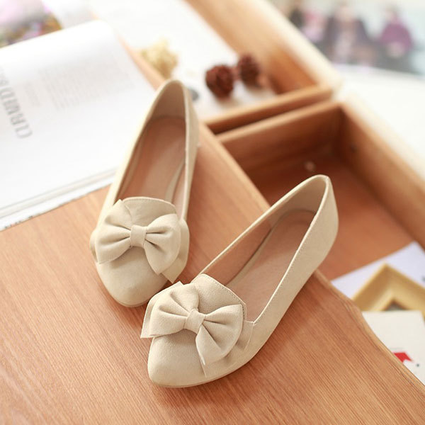 new arrives fashion closed toe flat sandals FREE SHIPPING simple sweet bowtie flat shoes comfortable bottom flat sandals D2704<br><br>Aliexpress
