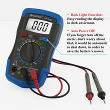 Holdpeak HP-33D multímetro Digital del amperímetro del voltímetro Ohmmeter hFE Tester actual y LCD luz de fondo