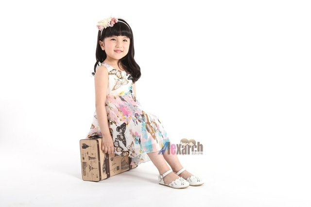 Free shipping!!Factory Direct! HOT SELLING! TOP QUALITY! Children's clothing fashion baby girls short-sleeved lace dress  A1005