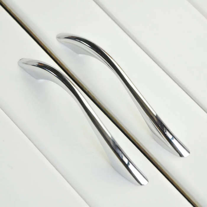 Buy Modern Bathroom Kitchen Drawer Pull Handles Silver Chrome Dresser Pulls