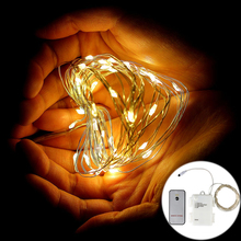 EPBOWPT 5M 50LEDs Timer Function AA Battery Powered Copper Wire LED String Rope Fairy Light + Remote Controller 3Modes for Decor